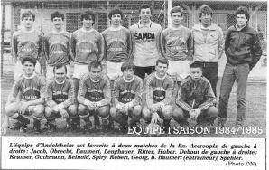 As Andolsheim Séniors 1 1984-1985