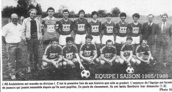 As Andolsheim Séniors 1 85-86