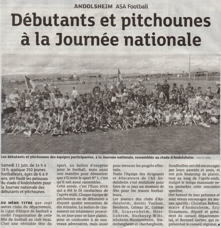 As Andolsheim article Dna Journée nationale débutant