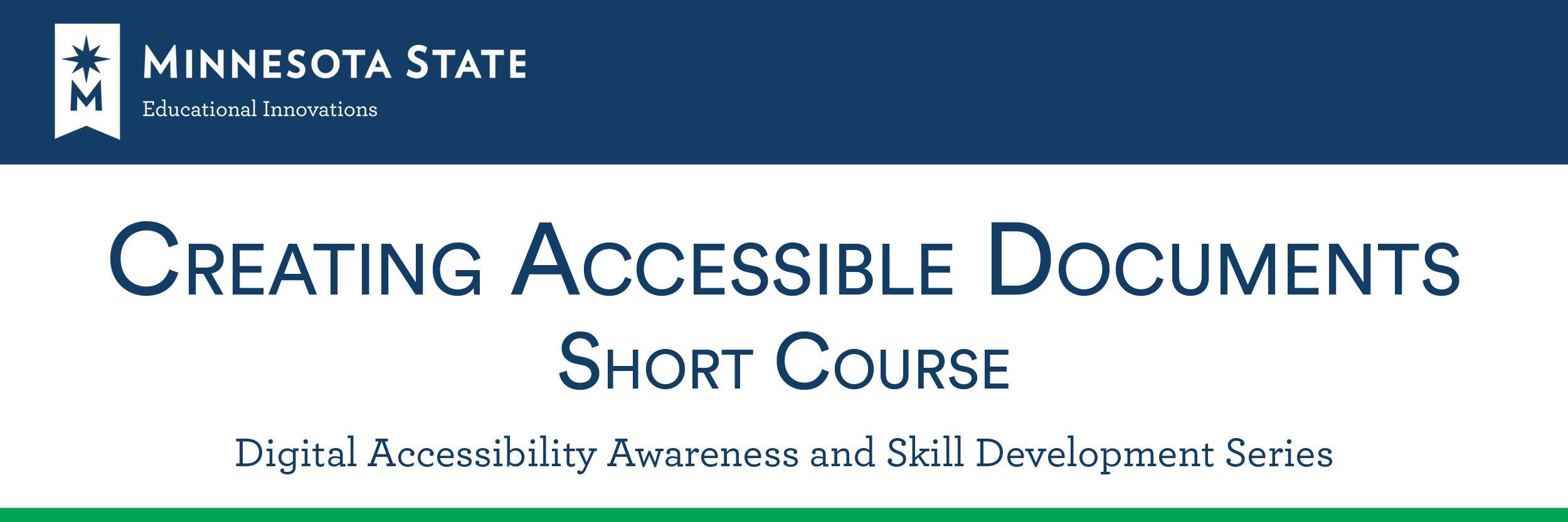 Accessibility Short Course - creating accessible documents