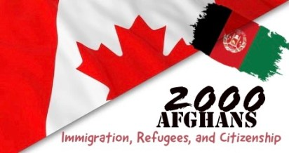 Immigration, Refugees, and Citizenship for 2000 Afghans in Canada