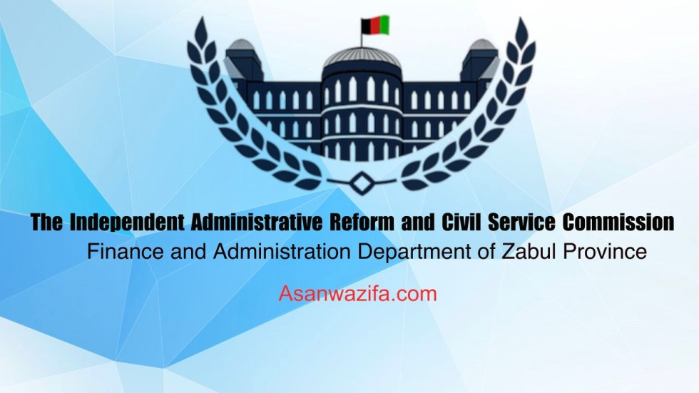 jobs as Finance and Administration Department of Zabul Province