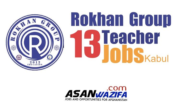 13 Teachers jobs at Rokhan Group ( Kabul )