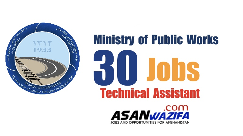 30 jobs by the Ministry of Public Works ( Technical Assistant )