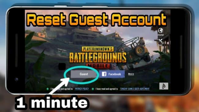 PUBG Mobile guest account