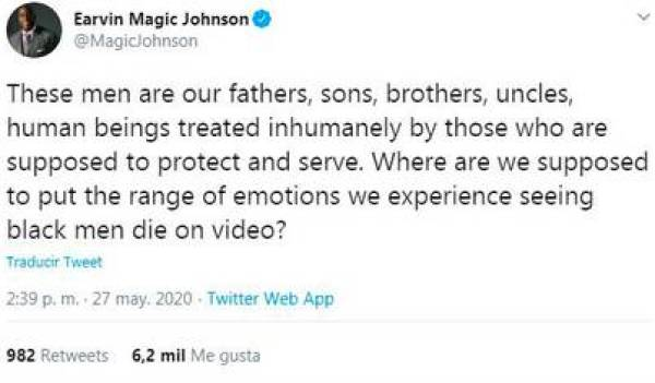 Magic Johnson's rejection of the murder of an African American citizen - part 2