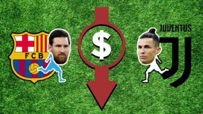 Lionel Messi and Cristiano Ronaldo prices fall