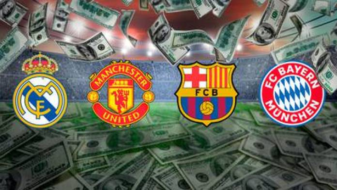 The four most valuable football clubs in Europe