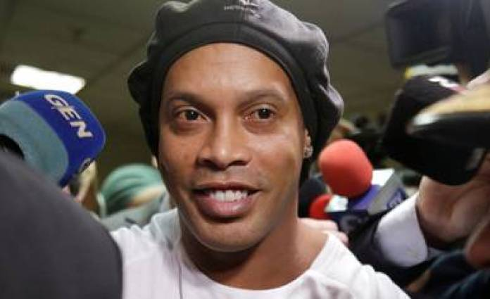 Ronaldinho is serving a house arrest in a hotel in Asunción (REUTERS)