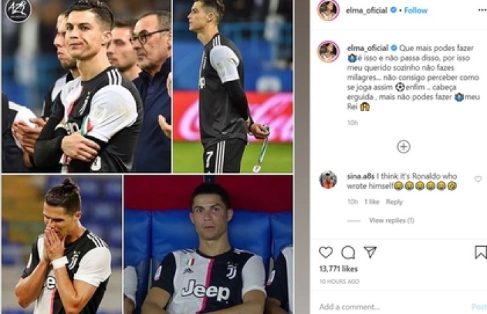 The post of Cristiano Ronaldo's sister against the technical director of Juventus
