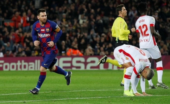 Lionel Messi, the standard-bearer for Barcelona against Mallorca (REUTERS / Albert Gea)