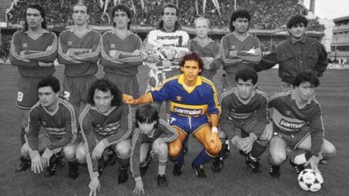 Cabañas was champion with Boca del Apertura 1992, with Oscar Washington Tabárez as coach