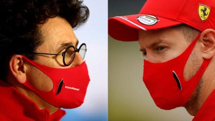 Mattia Binotto and Vettel had cross statements after the Spanish GP