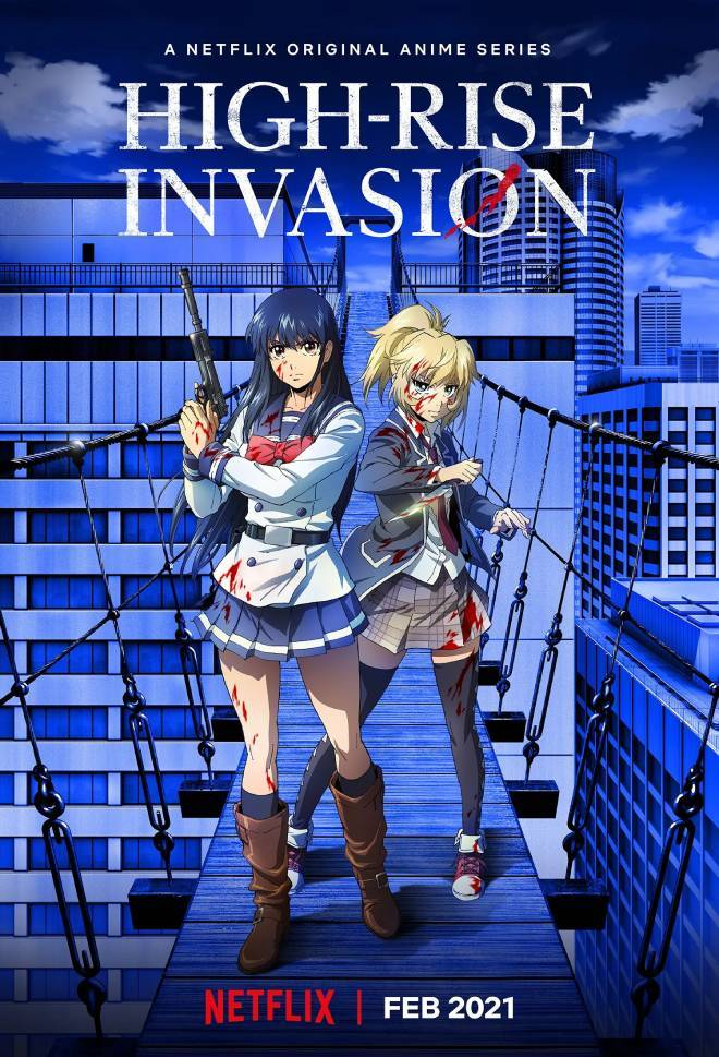 Netflix confirms High-Rise Invasion anime for February 2021 - anime premieres - netflix anime news for 2021 - anime online 2021