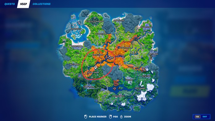 Fortnite-where-to-find-raptors-map-location