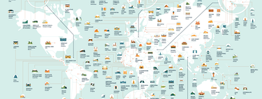 The map with the most repeated locations in series and movies ... all over the world