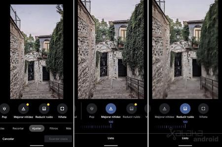 Google Photos Sharpness Noise