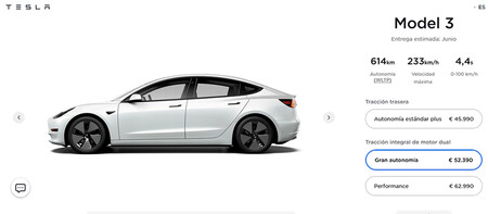 Tesla Model 3 2021, with up to 614 km of autonomy for the Great Autonomy