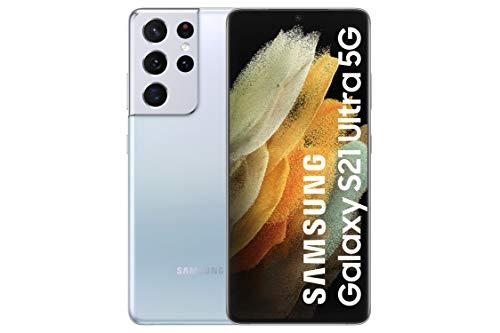 "Samsung Galaxy S21 Ultra 5G | Smartphone Android | Pantalla de 6.8"" WQHD + 120Hz Dynamic AMOLED |  12GB RAM and 128GB of Memory |  108MP Rear Camera |  Silver color [Versión española]"