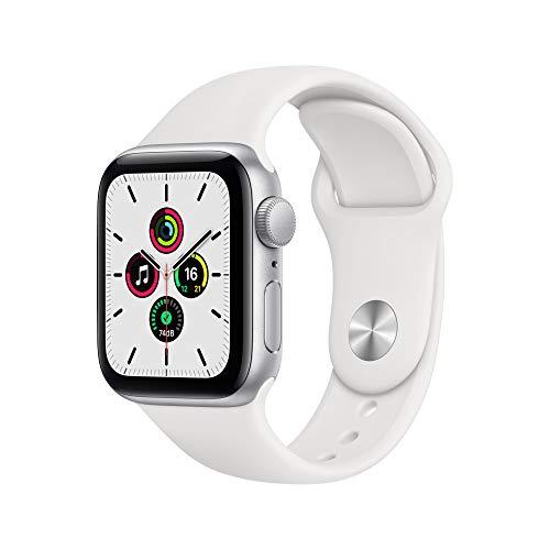 Apple Watch SE (GPS, 40mm) Silver Aluminum Case - White Sport Band