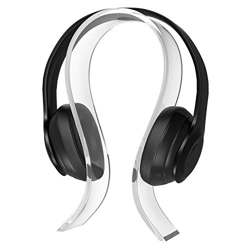 MoKo Headphone Holder, Universal Acrylic, 0.6cm Thick Screen Holder, Compatible with ATH, Bose, Sony, AKG, Sennheiser, Gaming Headphones, Transparent