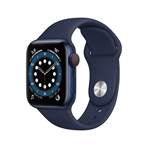 Apple Watch Series 6 (GPS + Cellular, 40mm) Blue Aluminum Case - Vivid Navy Sport Band