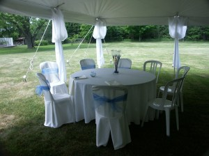 This setup was for the Blackburn Wedding