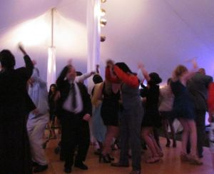 Tent parties are friendly affairs. Guests are pleasantly surprised at how elegant the tent is and how inviting.