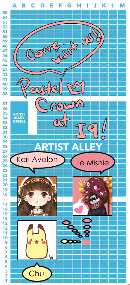 """Last minute map indicating where """"Pastel Crown"""" is located."""