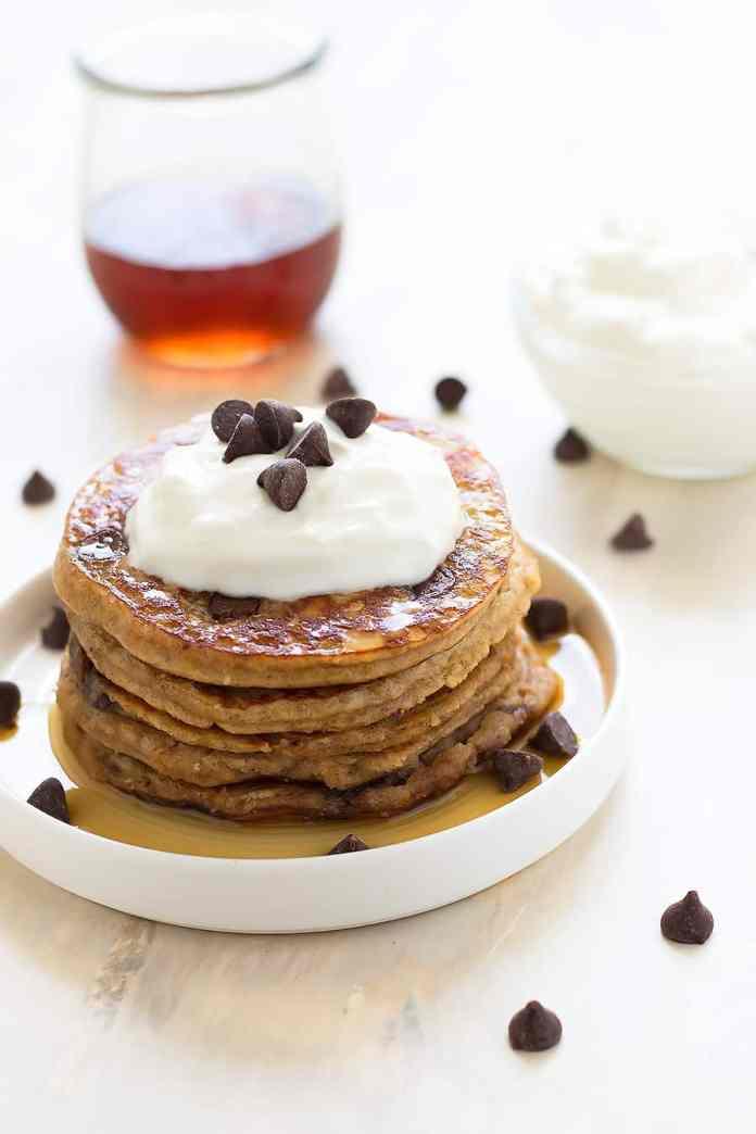 Healthy Chocolate Chip Pancakes Grain Free Dairy Free Paleo