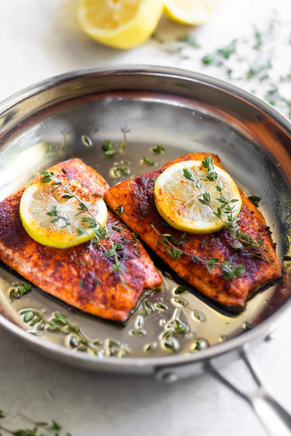 Spicy Salmon with Honey Butter Sauce - A Sassy Spoon