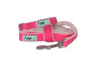 Asatre Hemp Collar and Leash Set - Pink