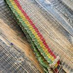 Boho Hemp Belt Red Yellow Green
