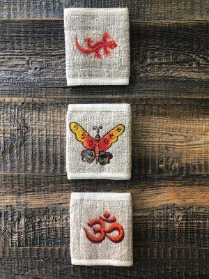 Handmade Himalayan Hemp Wallet Symbol