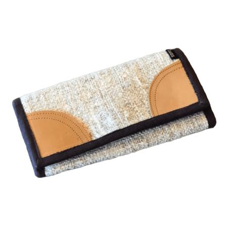 Women's Hemp Wallet - Light Brown Accent