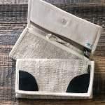 Women's Hemp Wallet with Dark Brown Accent