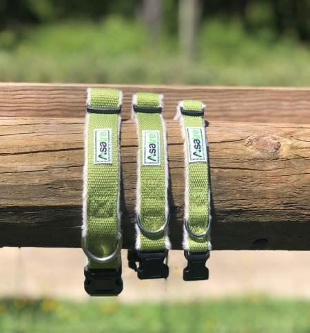 Hemp Dog Collars - Green