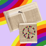 Hemp Peace Rainbow Wallet
