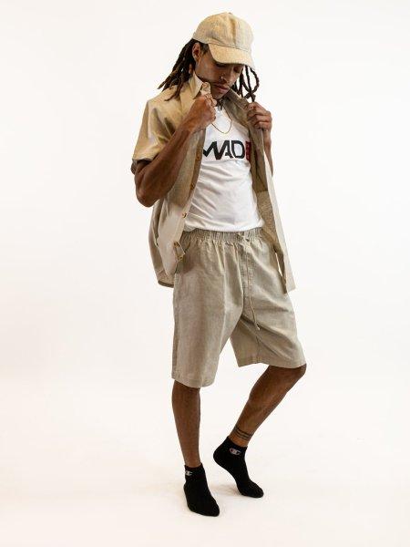 Asatre Hemp Drawstring Shorts and Button Up Shirt