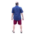 Hemp and Cotton Shorts - Burgundy