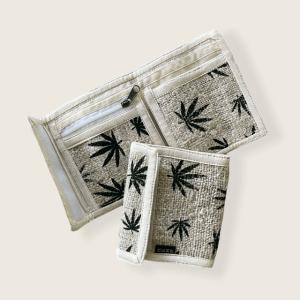 Hemp Leaf Bi-Fold Wallet