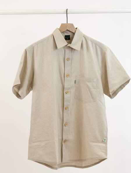 Hemp and Organic Cotton Button Up Shirt