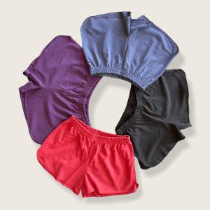 Asatre Women's Hemp and Organic Cotton Jersey Workout Casual Shorts