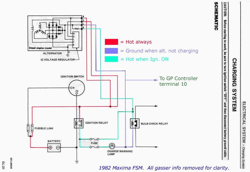 medium resolution of nissan maxima alternator wiring wiring diagram 2005 nissan maxima alternator wiring diagram