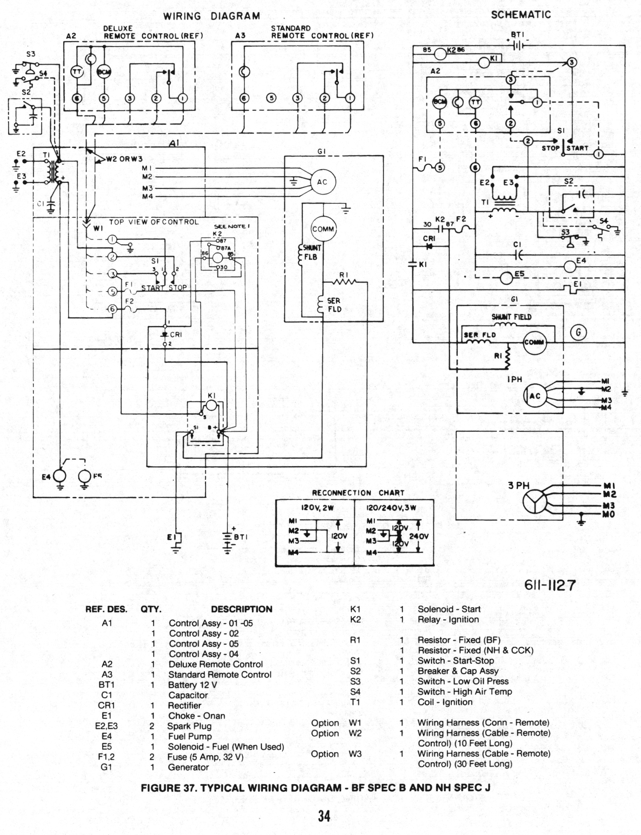 Onan Service Manual for BF/BFA/BGA/NH: 900-0337: Page 34