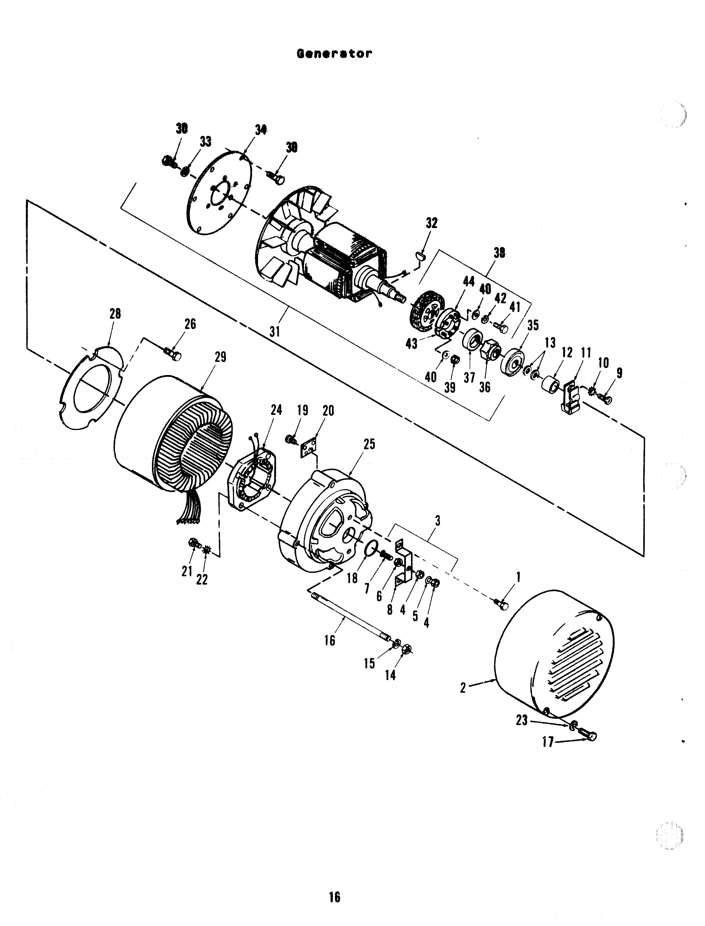 Onan Parts Manual for ES Mobile Genset: 928-0227: Page 16