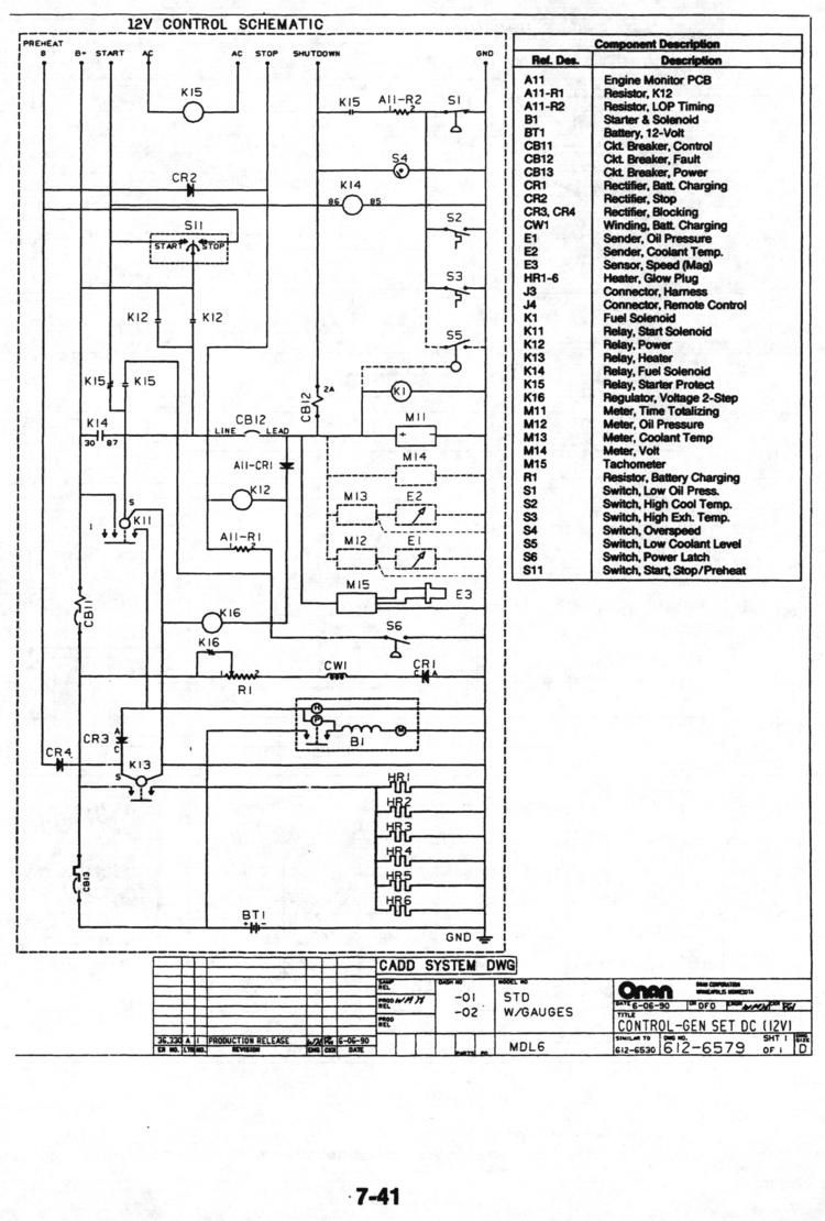 Onan Marine Service Manual for MDL3, MDL4, MDL6 (Generator