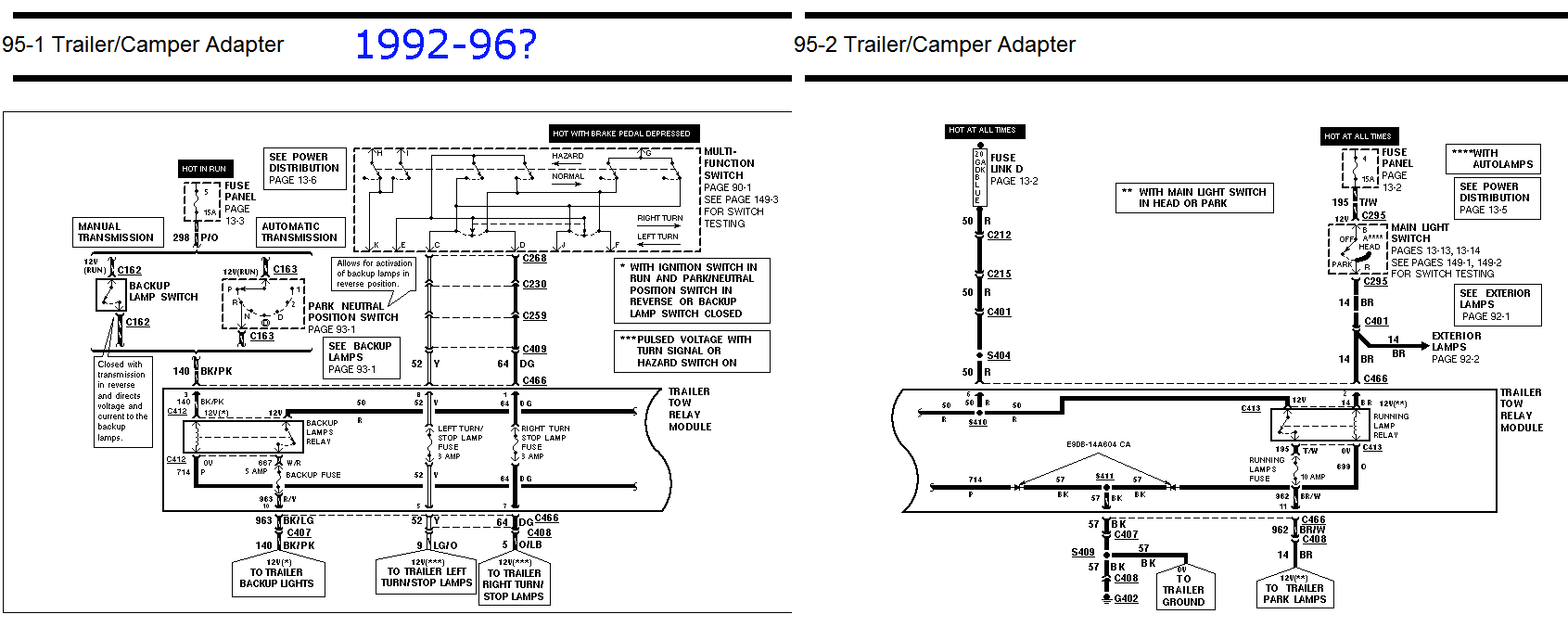 hight resolution of trailer tow package and trailer wiring questions ford truck rh ford trucks com 6 way