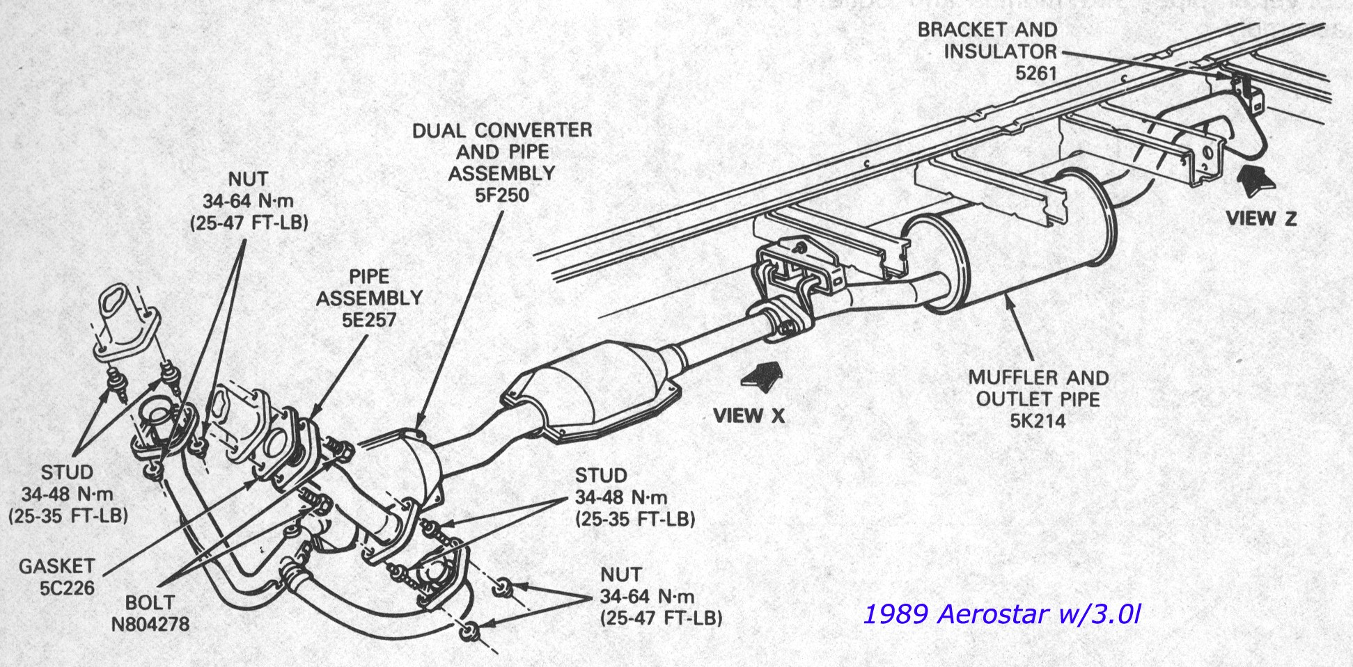 hight resolution of 2006 ford taurus exhaust system diagram