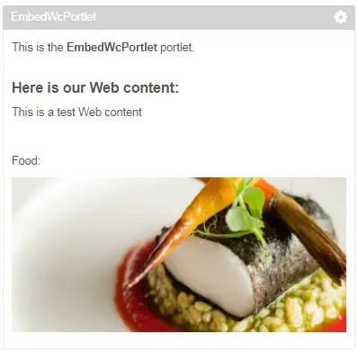 embed web content inside portlet